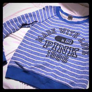Pink blue sweatshirt